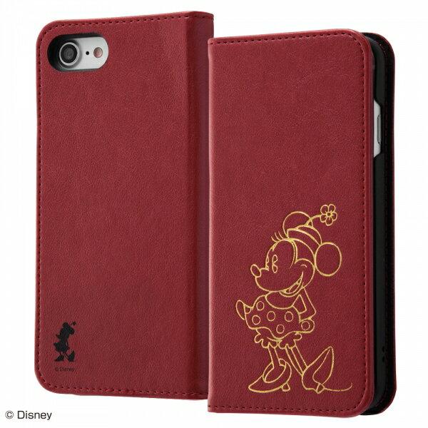 iPhone 8/iPhone 7 ディズニーキャラクター/手帳型ケース ホットスタンプ ワンポイント ミニー