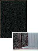 本革オリジナルブックカバー(文庫サイズ) B01:ブラック