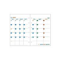 エトランジェ システム手帳レフィル 2021年 ミニ6穴マンスリー ホワイト (2020年12月始まり) SREF-M-01