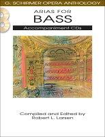 【輸入楽譜】オペラ・アンソロジー: バス・アリア集/Larsen編: 伴奏CD2枚組