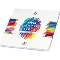 三菱鉛筆 消せる色鉛筆 ユニアーテレーズカラー 24色 UAC24C