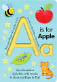 This brilliant, innovative book offers an engaging new way for children to discover and learn basic concepts of the alphabet. Colorful lift-the-flaps on every sturdy page further reinforce easy learning. Each board page features a grooved letter that a child can trace with his finger, a flap to lift to find a surprise, and bright illustrations depicting familiar objects. Full color.