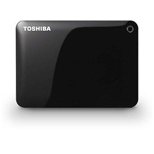 TOSHIBA ポータブルハードディスク CANVIO CONNECT(HD-PFシリーズ) 1TB ブラック