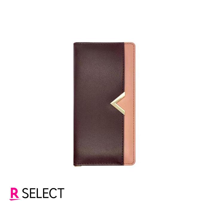 arrows RX 手帳型ケース ブラウン×ピンク