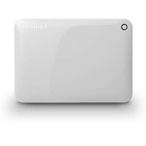 TOSHIBA ポータブルハードディスク CANVIO CONNECT(HD-PFシリーズ) 1TB ホワイト