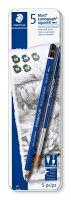 ステッドラー 鉛筆 ルモグラフ アクェレル 水彩 6本セット 100A G6