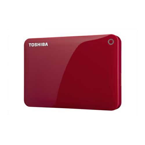 TOSHIBA ポータブルハードディスク CANVIO CONNECT(HD-PFシリーズ) 2TB レッド