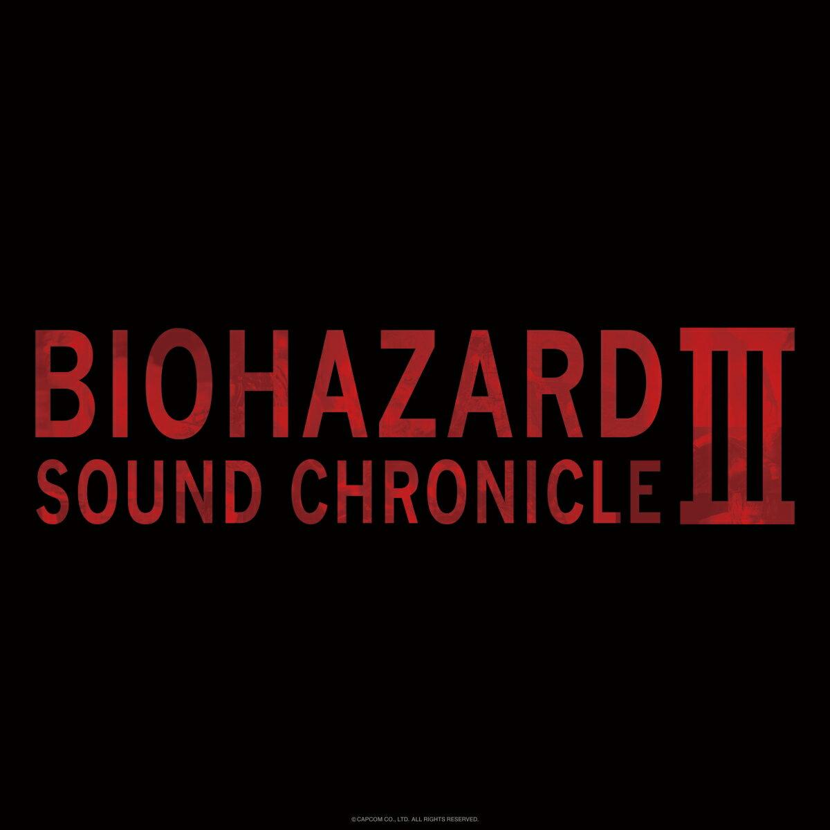 CD, ゲームミュージック BIOHAZARD SOUND CHRONICLE III ()