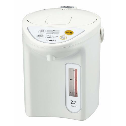 タイガー魔法瓶 マイコン電動ポット 2.2L ホワイト PDR-G221W