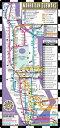 【送料無料】Streetwise Manhattan Bus Subway Map - Laminated Public Subway Map of Manhattan, NY - Minimetro: Fold [ Streetwise Maps ]