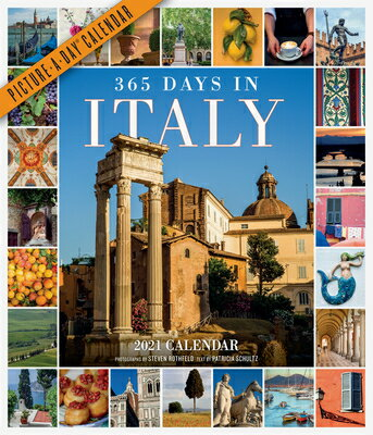 365 Days in Italy Picture-A-Day Wall Calendar 2021画像