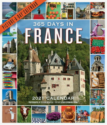 365 Days in France Picture-A-Day Wall Calendar 2021画像