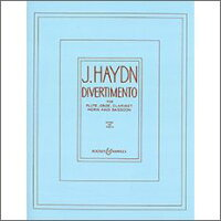【輸入楽譜】ハイドン, Franz Joseph: ディヴェルティメント/木管五重奏用編曲: スコアとパート譜セット