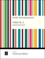 【輸入楽譜】ショスタコーヴィチ, Dmitry Dmitrievich: 「ジャズ組曲」より ワルツ 第2番/フルートとピアノ用編曲/Reede編