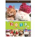 2019年 カレンダー 壁掛け かご猫 カレンダー
