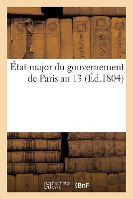 tat-Major Du Gouvernement de Paris Ordre Du 1er Germinal an 13画像