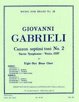 【輸入楽譜】ガブリエーリ, Giovanni: 第7旋法による8声のカンツォン 第2番: スコアとパート譜セット