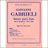 【輸入楽譜】ガブリエーリ, Giovanni: 8声のピアノとフォルテのソナタ: スコアとパート譜セット