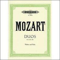 【輸入楽譜】モーツァルト, Wolfgang Amadeus: バイオリンとビオラのための二重奏曲 KV 423-424