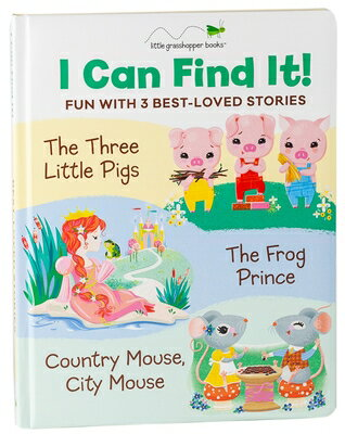 I Can Find It! Fun with 3 Best-Loved Stories: Three Little Pigs / Country Mouse, City Mouse / Frog P画像