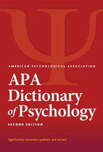 APA Dictionary of Psychology(r) APA DICT OF PSYCHOLOGY(R) 2/E [ Gary R. Vandenbos ]