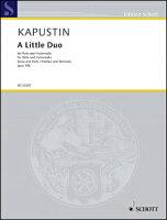 【輸入楽譜】カプースチン, Nikolai: 小二重奏曲 Op.156(フルートとチェロ)