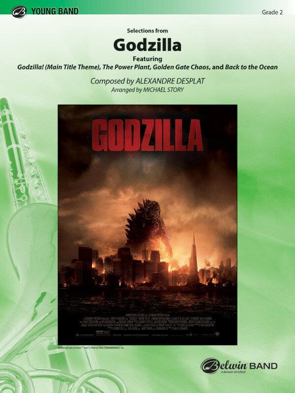 【輸入楽譜】デプラ, Alexandre: 映画「GODZILLA ゴジラ」セレクション(2014年ハリウッド版)/ストーリー編曲: スコアとパート譜セット画像