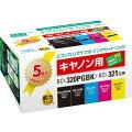 BCI-321+320/5MP 互換リサイクルインクカートリッジ 5色パック ECI-C320+3215P/BOX エコリカ