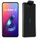 "<Zenfone 6>ミッドナイトブラック/6.4""2340x1080(FHD+)/Android 9.0/Qualcomm Snapdragon 855(オクタコアCPU)2.84GHz/LPDDR4X 6GB/128GB(UFS 2.1)/802.11"