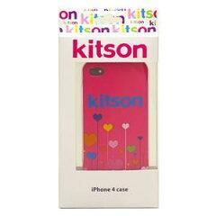 【送料無料】【数量限定特価】Kitson iPhone4 ケース(ハート ピンク) KSIPA4HCPT-FLPK