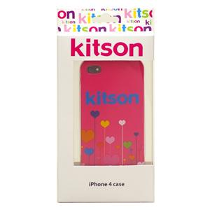 【送料無料】Kitson iPhone4 ケース(ハート ピンク) KSIPA4HCPT-FLPK