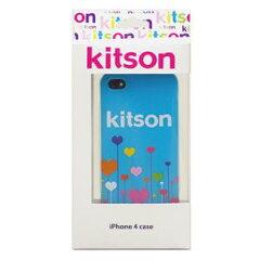 【送料無料】Kitson iPhone4 ケース(ハート ブルー) KSIPA4HCPT-FLBL