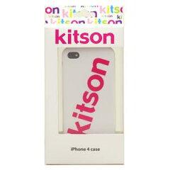 【送料無料】【数量限定特価】Kitson iPhone4 ケース(ロゴ ホワイト) KSIPA4HCRB-LG2WH/PK