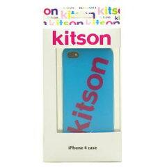 【送料無料】Kitson iPhone4 ケース(ロゴ ブルー) KSIPA4HCRB-LG2BL/PK