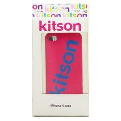 【送料無料】Kitson iPhone4 ケース(ロゴ ピンク) KSIPA4HCRB-LG2PK/BL