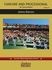 【輸入楽譜】バーンズ, James: ファンファーレとプロセッショナル: スコアとパート譜セット [ バーンズ, James ]