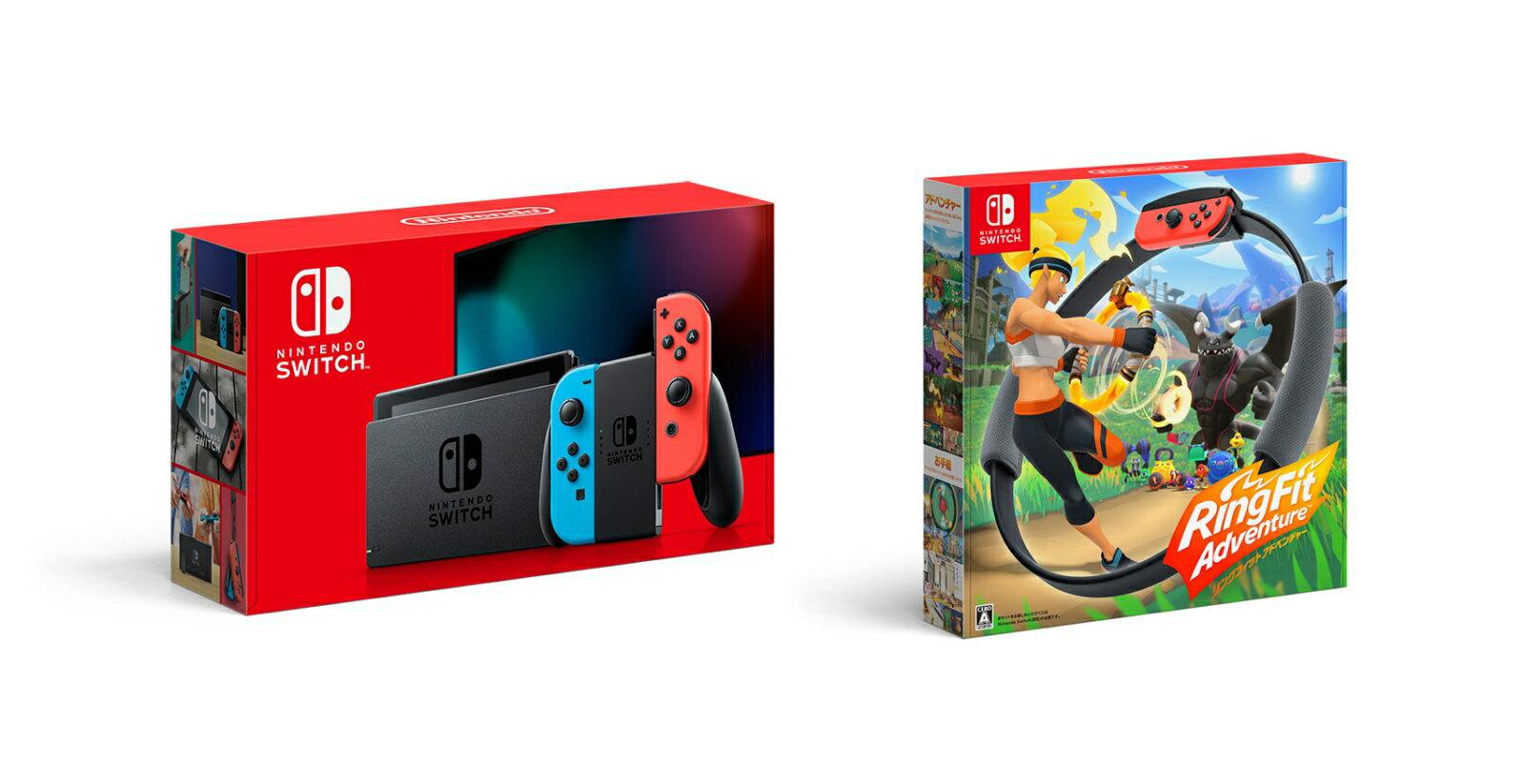 【セット商品】Nintendo Switch Joy-Con(L) ネオンブルー/(R) ネオンレッド+リングフィット アドベンチャー