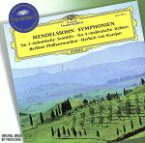 【中古】 【輸入盤】Mendelssohn: Symphonies 3 & 4 / Karajan, Berlin Philharmonic Orchestra 【中古】afb