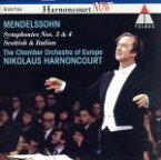 【中古】 メンデルスゾーン:交響曲第3番.第4番 /ニコラウス・アーノンクール,ヨーロッパ室内管弦楽団 【中古】afb
