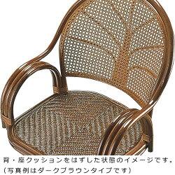 送料無料籐回転座椅子ハイs584
