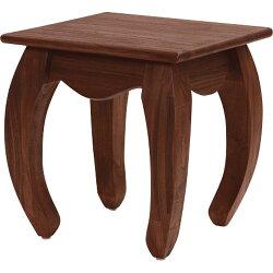 送料無料木製サイドテーブル幅46cmアンティークチークt602ka