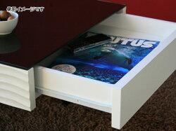送料無料ガラスリビングテーブル幅105cmシュールga-su-lt-wh