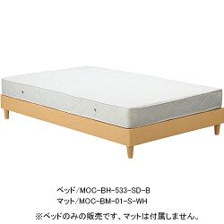 木製ベッド【フレームのみ】セミダブルナチュラルbh-533-sd