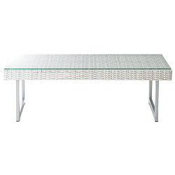 ガラスリビングテーブル幅110cmホワイトlt-51-wh