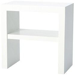 サイドテーブル幅55cmホワイトlt-70-wh