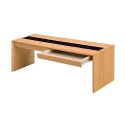 引き出し付きリビングテーブルデスクゼン幅106cmナチュラル
