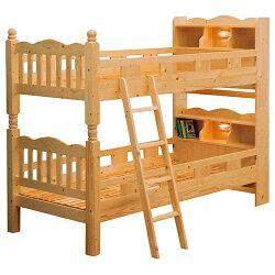 木製2段ベッドメヌエット4ナチュラル