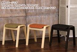 木製スタッキングスツールパセリ【4脚組】ファブリックグリーン木製スタッキングスツール4脚セット布張り1人掛け一人掛け一人用椅子イスいすチェアチェアー積み重ね収納