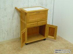 送料無料天然木キッチンワゴンライトブラウンkw-7050-lbr