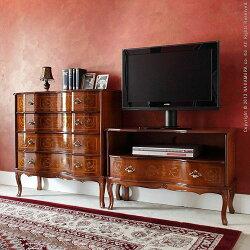 ヴェローナクラシック猫脚テレビボード幅87cm42200006